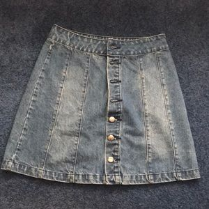 Urban Outfitters BDG Small Button Up Denim Skirt